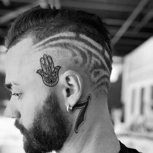 Hair Tattoo by Hollywood Barber