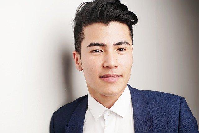 A man with fresh hair cut